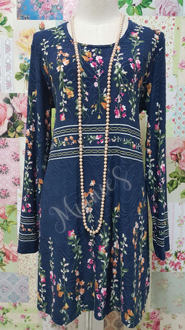 Navy Floral Top MB047