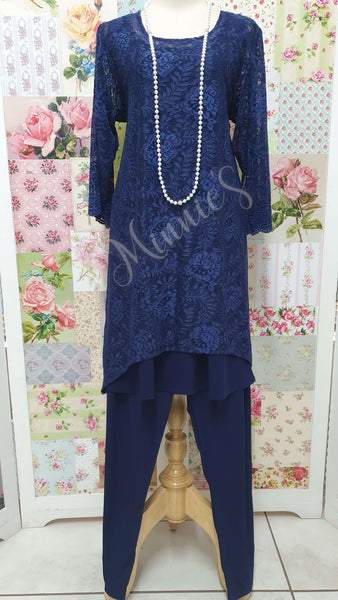 Navy 3-Piece Pants Set MB0178