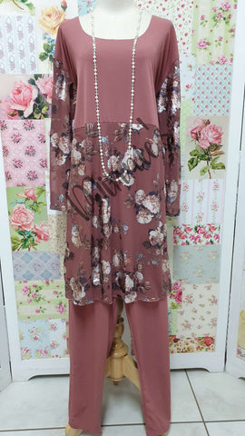 Dusty Pink 2-Piece Pants Set MB0176
