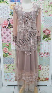 Rose Gold & Nude 3-Piece Dress Set ML0197