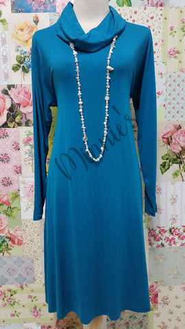 Teal Cowl Neck Top MD0203