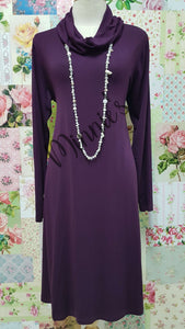Plum Cowl Neck MD0209