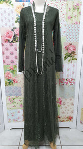 Olive Green 3-Piece Dress Set MD0193