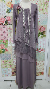 Mauve 4 Piece Dress Set MD0157
