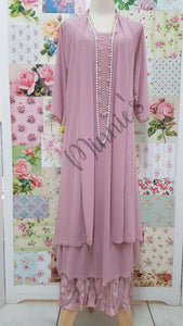 Dusty Pink 3-Piece Dress Set CH0372
