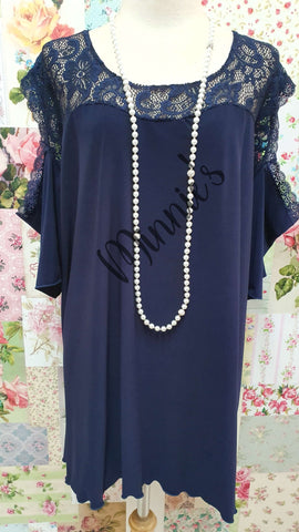 Navy Blue Top LR0479