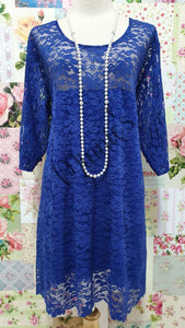 Royal Blue Lace Top LR0472