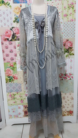 Grey 3-Piece Dress Set MB064