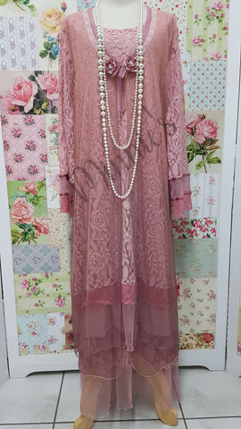 Dusty Pink 3-Piece Dress Set MB062