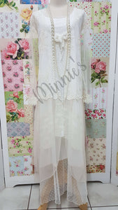 Cream 3-Piece Dress Set MB060