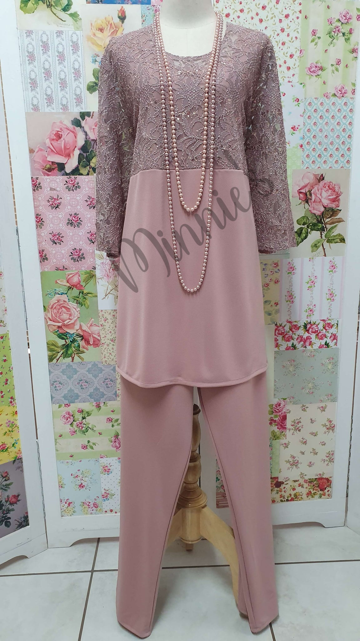 Dusty Pink 2-Piece Pants Set MB0196
