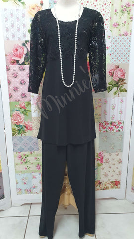 Black 2-Piece Pants Set MB0197