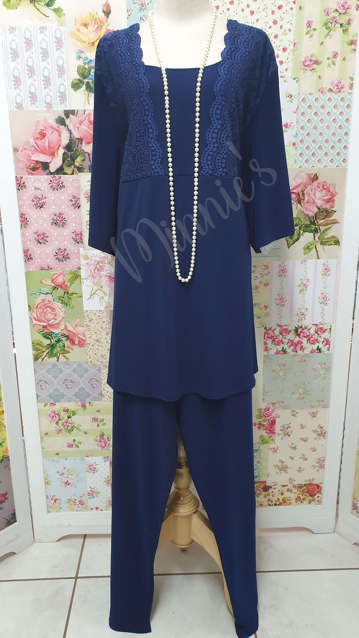 Navy Blue 2-Piece Pants MB0202