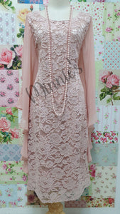 Blush Pink Lace Dress NA097