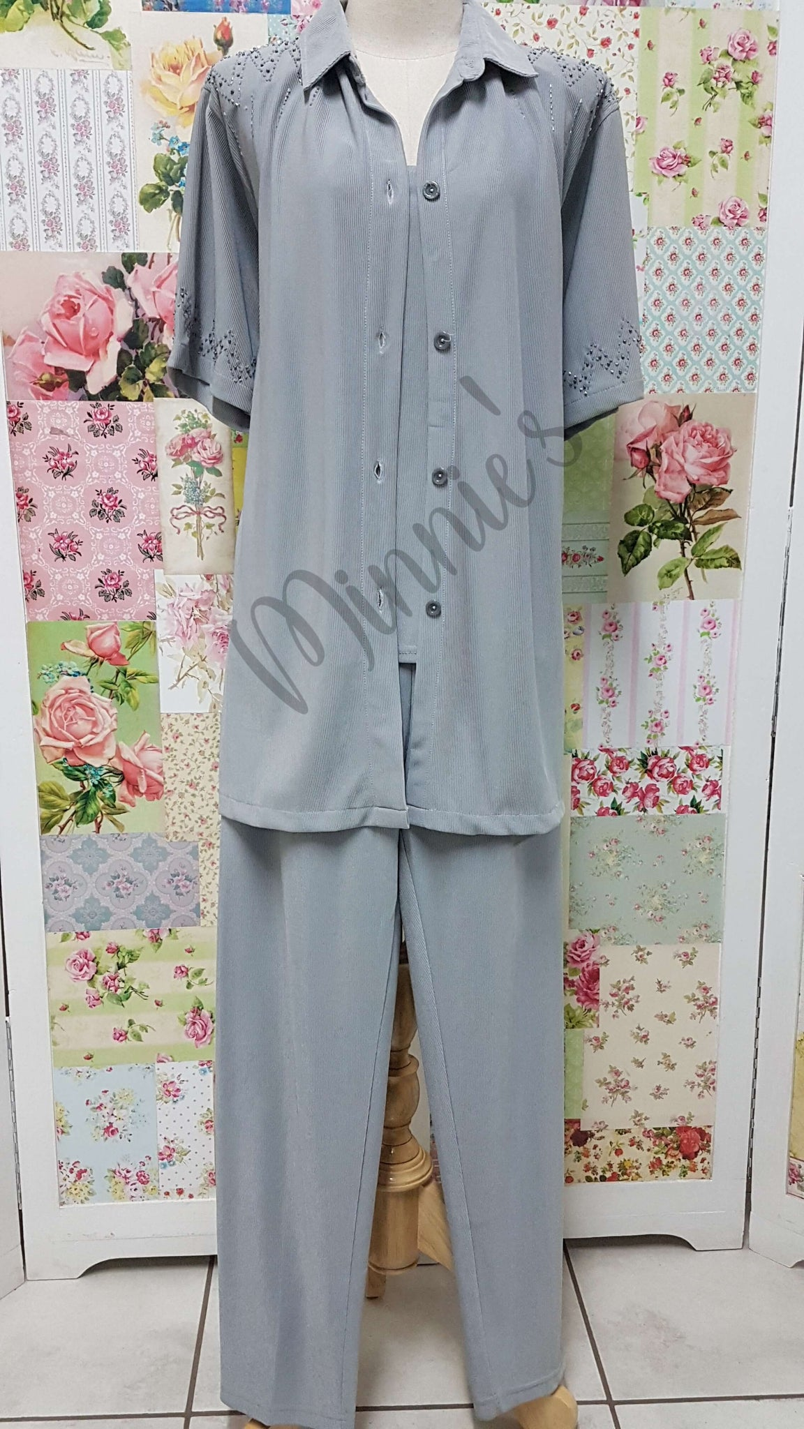Grey 3-Piece Pants Set BS0124