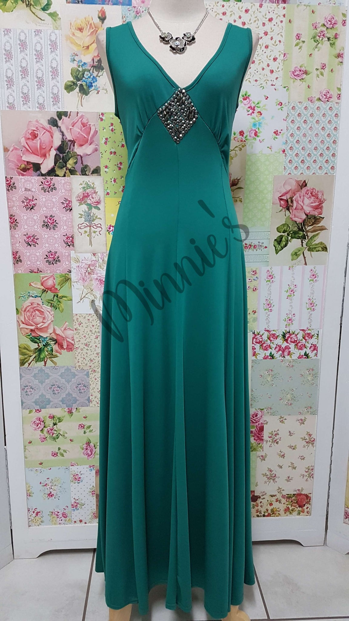Emerald Green Dress BU0381
