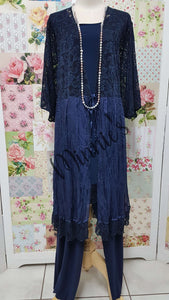 Navy 3-Piece Pants Set LR0106