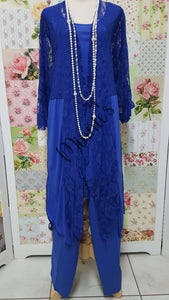 Royal Blue 3-Piece Pants Set LR0386