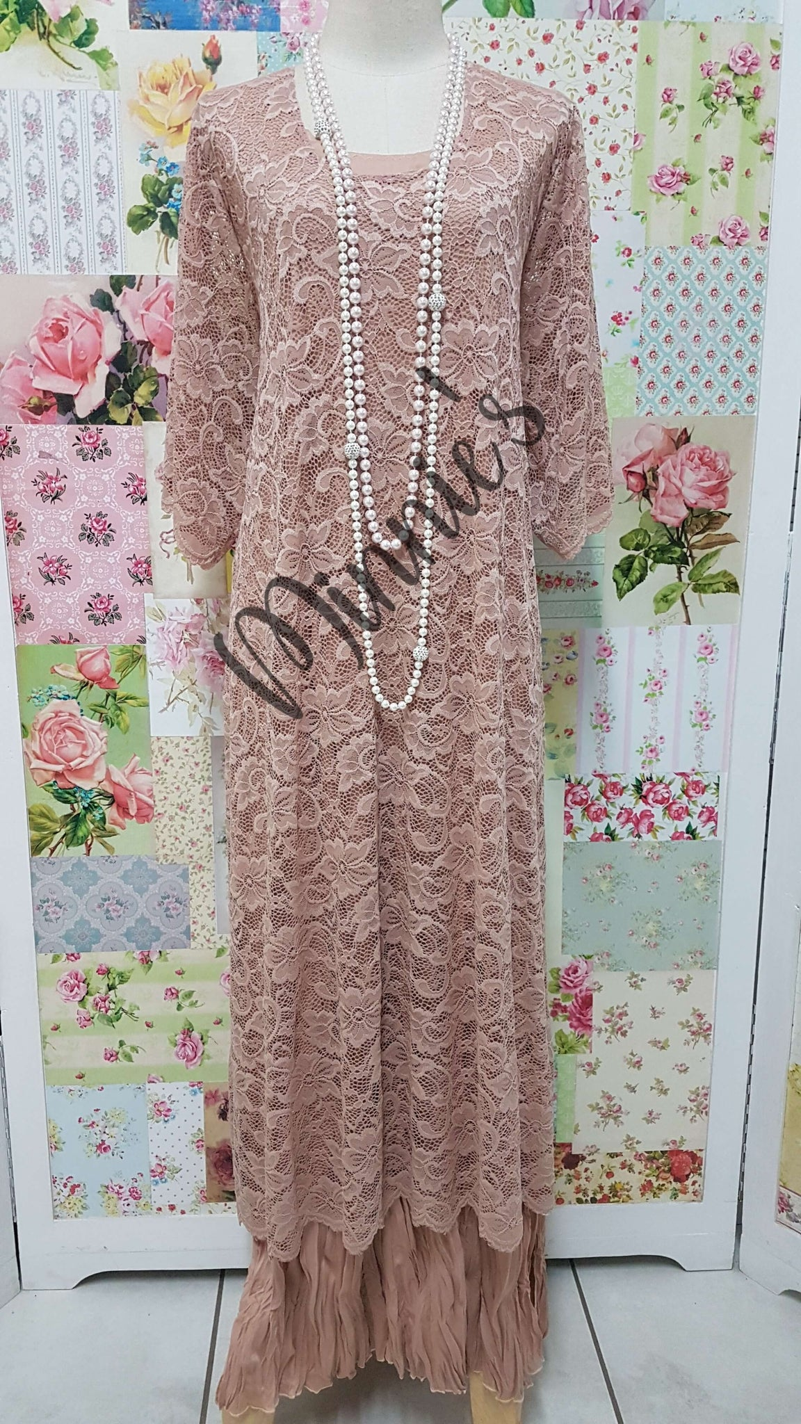 Blush 2 Piece Dress Set LR0380
