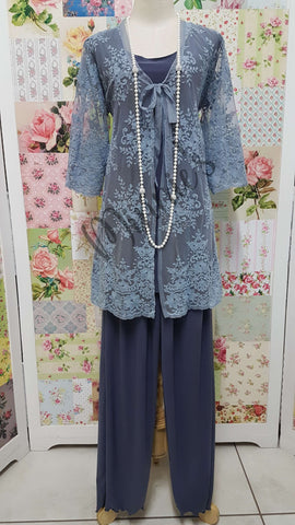 Grey 3-Piece Pants Set LR0315
