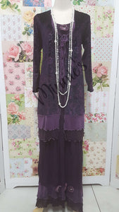 Plum 2-Piece Dress LR0186