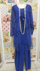Royal Blue Lace 3-Piece LR0223