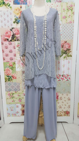 Grey 3-Piece Pants Set LR0202