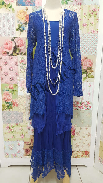 Royal Blue 2-Piece Dress GD044
