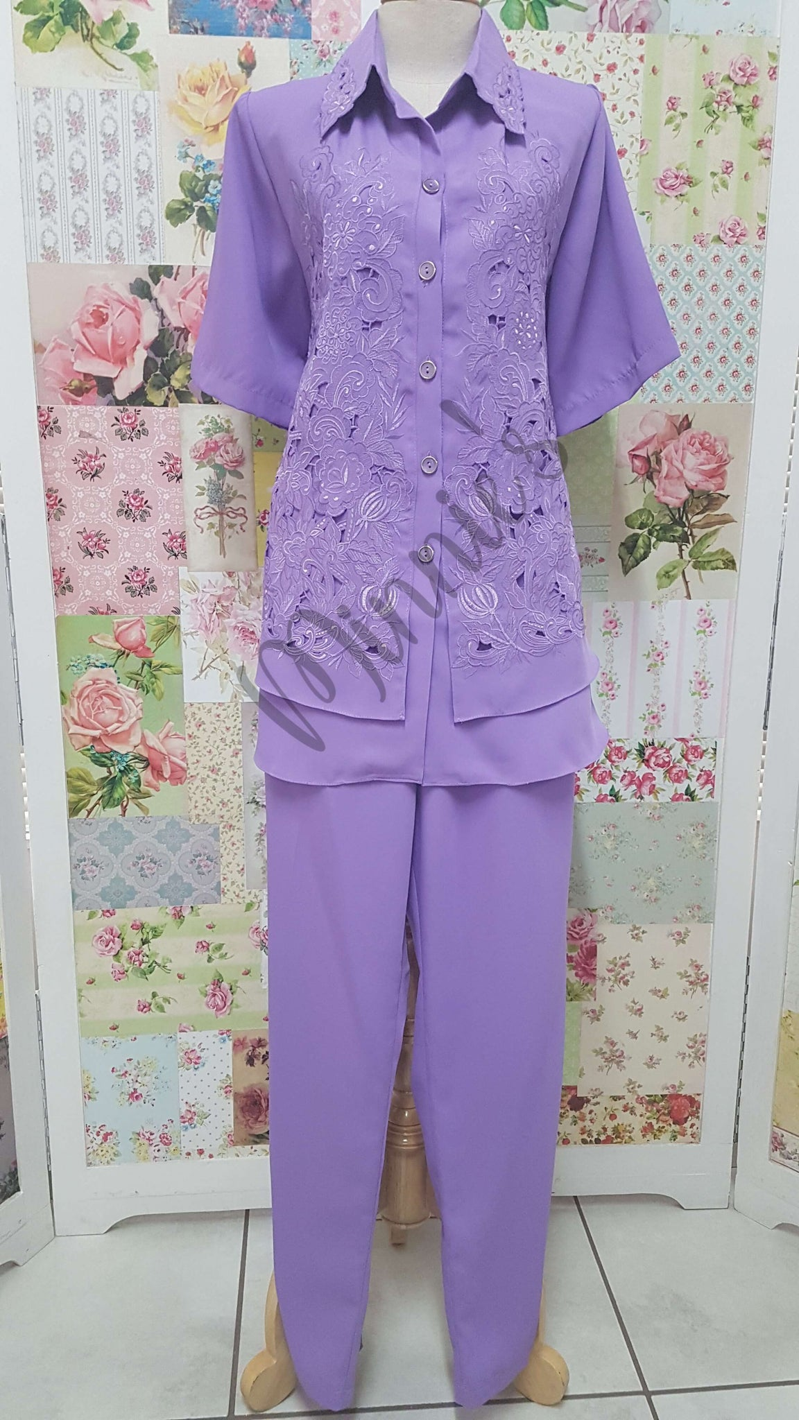 Lavender 2-Piece Pants Set BS019