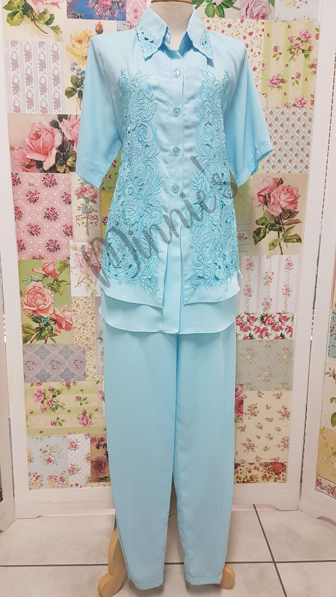 Baby Blue 2-Piece Pants Set BS025