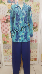 Royal Blue 2-Piece Pants Set BS090