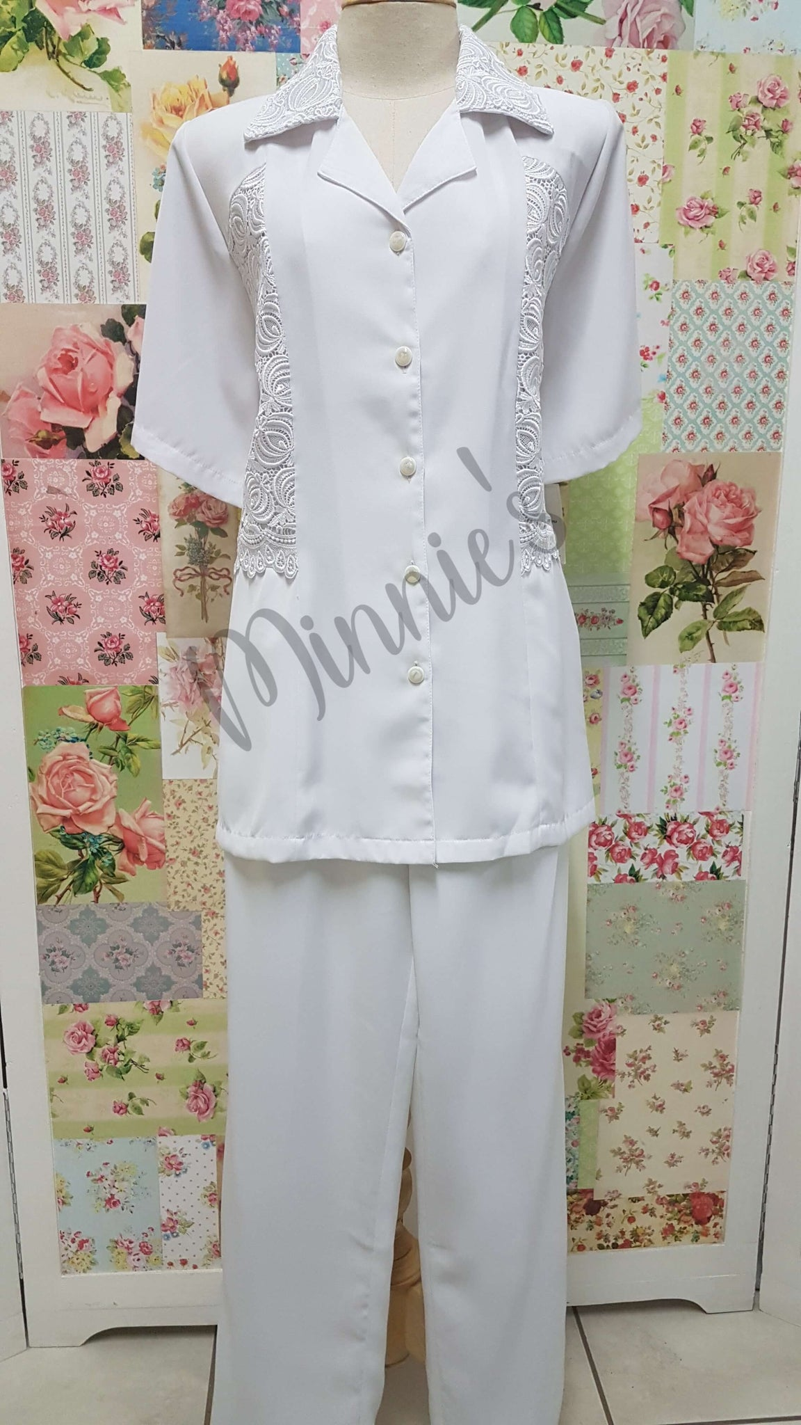 White 2-Piece Pants Set BS060