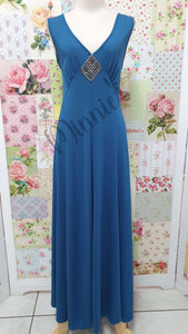 Petrol Blue Dress BU004