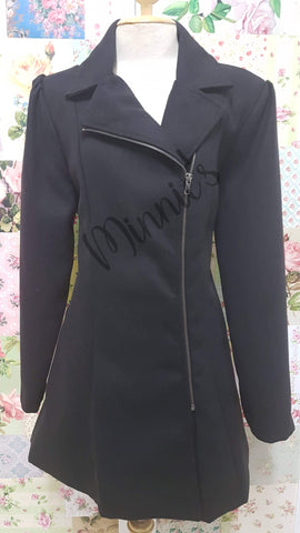 Black Melton Jacket BU0225