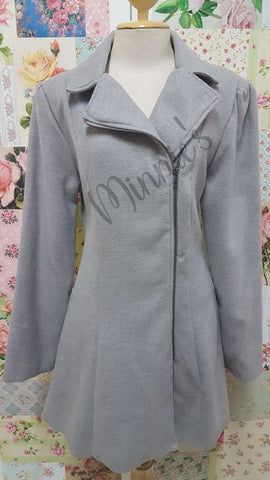 Grey Melton Jacket BU0214