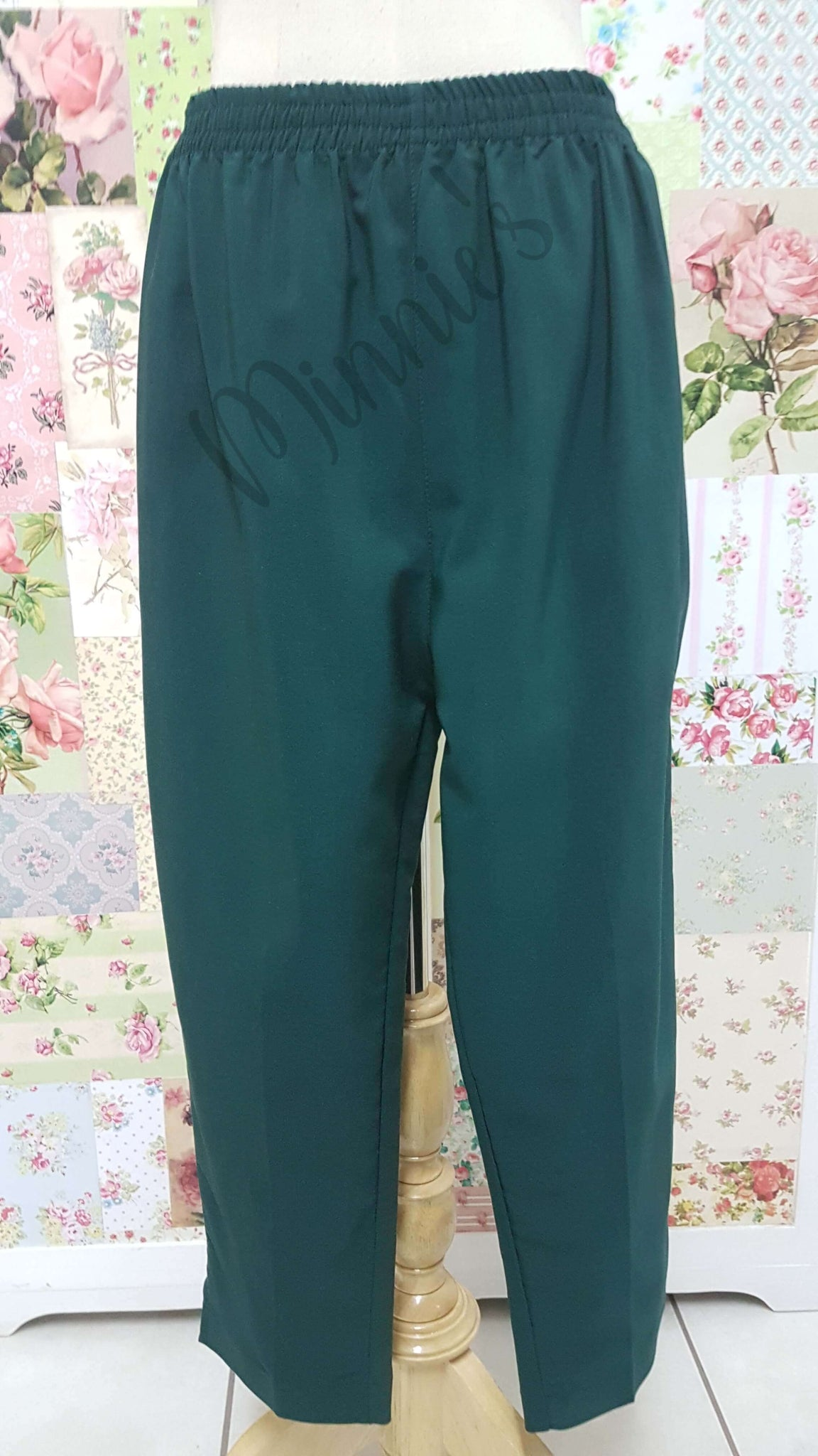 3/4 Bottle Green Pants BK0353