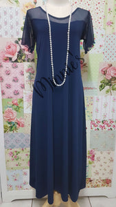 Navy Blue Dress CH0677
