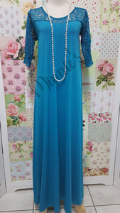 Teal Long Dress CH0687
