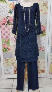 Navy Blue 3-Piece Pants Set CH0120