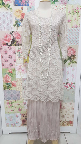 Stone Lace 2-Piece Dress Set CH0628