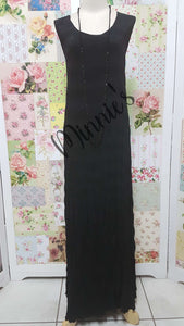 Crushed Long Dress CH0533