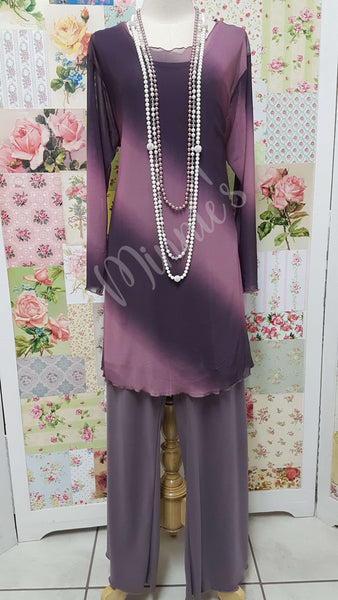 Mauve & Dusty Pink Top CH0166