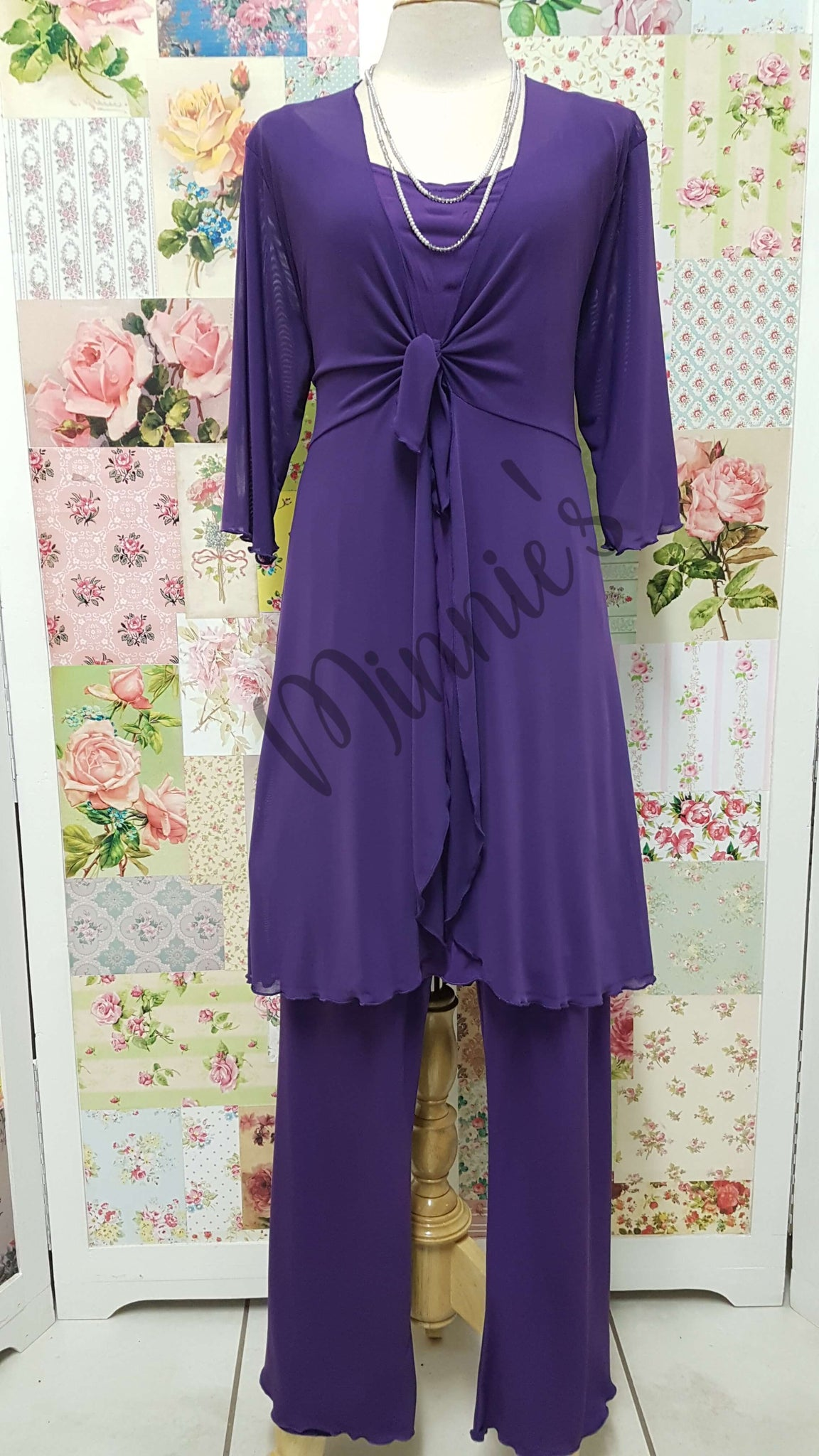 Purple 3-Piece Pants Set CH0179