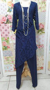 Navy Blue 3-Piece Pants Set MB0212