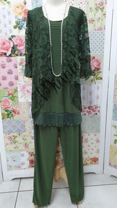 Moss Green 3-Piece Pants Set MB0215