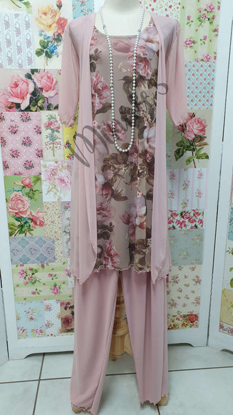 Dusty Pink 4-Piece Pants Set MB0214