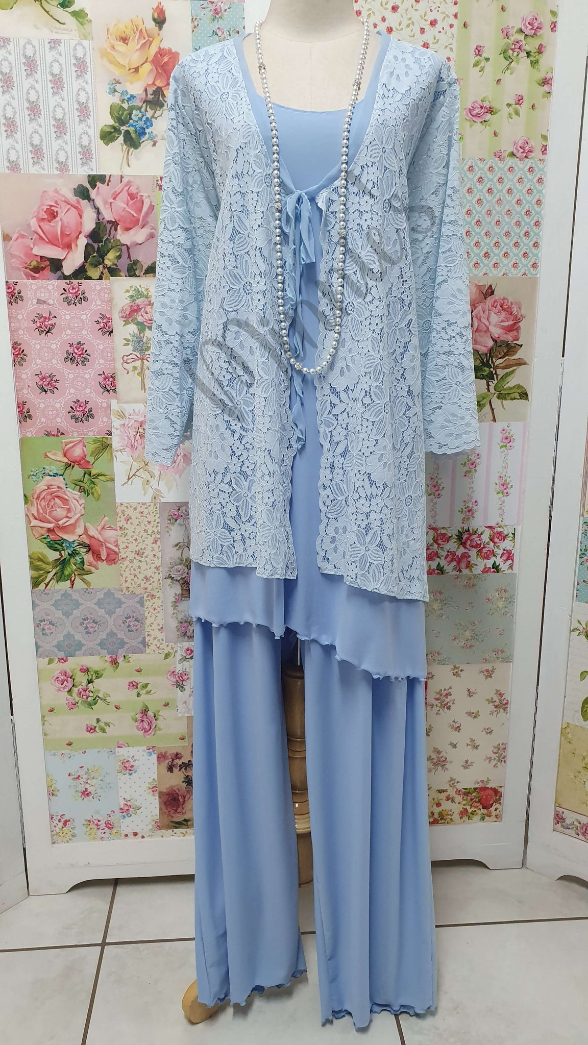 Powder Blue 3-Piece Pants Set MB0217