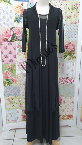 Black 2-Piece Dress CH0347