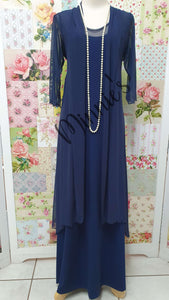 Navy Blue 2-Piece Dress Set CH0316
