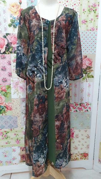 Olive Green & Rustic 2-Piece Dress Set MB0221